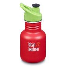 Klean Kanteen Kids 355ml drinks bottle - Strawberry - Sports cap kid Kanteen