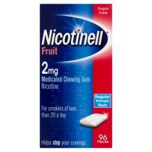 Nicotinell Nicotine Gum 2mg Fruit 96 Pieces