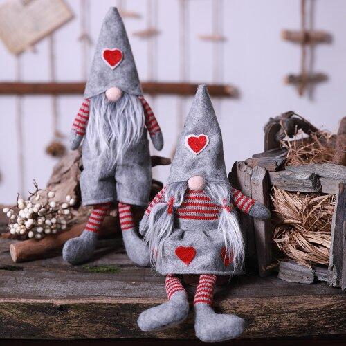 (Mrs Gonk) Christmas Craze Mr & Mrs Gonk Gnome Decoration Ornament Gift Stocking Filler