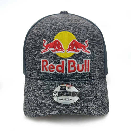 Red Bull 9FORTY Cap Grey Adjustable Mesh MotoGP F1 Sport Racing Hat
