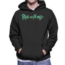 Rick and Morty Classic Neon Logo Design Men's Hooded Sweatshirt