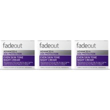 Fade Out Advanced+ Age Protection Even Skin Tone Night Cream 3x50ml- Hydrate, Plump & Improve The Appearance Of Fine Lines & Wrinkles