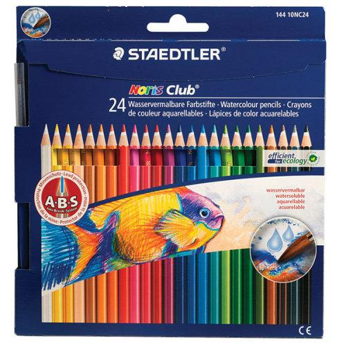 1 Pack - Staedtler 14410CN24 Noris Club Aquarell Watercolour Pencils - Pack of 24