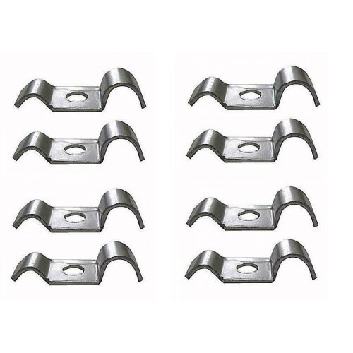 Eight Metal Brake Pipe Clips BZP To suit 3/16 and up to 5/16 Brake Hose Clips Auto