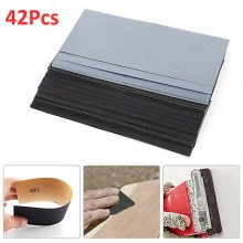 42pc Mixed Wet and Dry Waterproof Sandpaper 120-3000Grit Sheets Sander