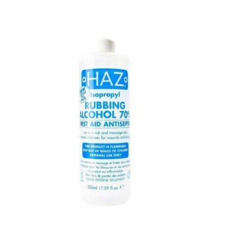 Rubbing Alcohol 70% Haz Isopropyl Antiseptic Disinfectant First Aid IPA 500ML