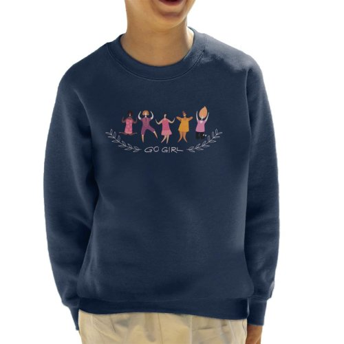 Go Girl Text Kid's Sweatshirt
