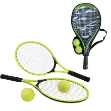 "Oypla 2 Player Junior Tennis Set with 23"" Aluminium Rackets, Balls & Carry Bag"