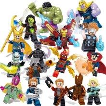 Kids's 16 pieces/set puzzle minifigure Avengers compatible LEGO building block toys