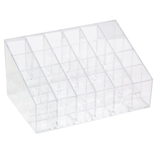 Trixes Acrylic Lipstick Stand | 24 Compartment Cosmetics Holder