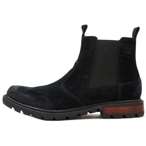 Caterpillar CAT Economist Chelsea Split Suede Boots in Black P723048 [UK 6  EU 40]