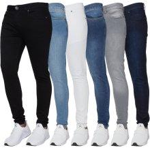 Ze Enzo Mens Skinny Jeans Slim Fit Super Stretch Denim Pants