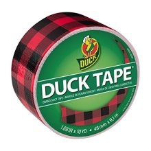 Duck Brand Printed Duct Tape Buffalo Plaid 1 88 Inches x 10 Yards Single Roll 285222