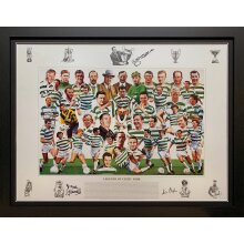 Framed Celtic Art Print signed by McNeill, Chalmers & Gemmell with COA
