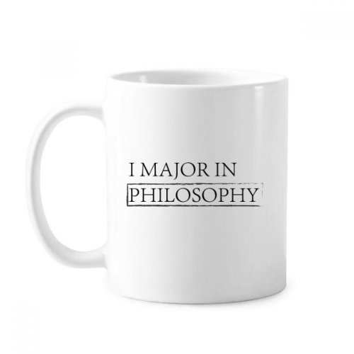 Quote I Major In Philosophy Classic Mug White Pottery Ceramic Cup Gift With Handles 350 ml