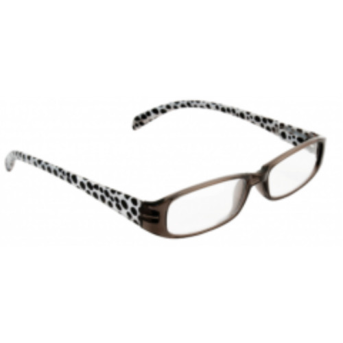Beta view reading glasses- black and white dots 3.00