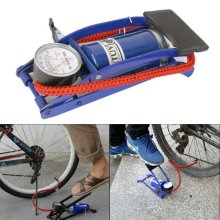 1Barrel Cylinder Air Compress Inflator Foot Pump Van Bicycle Bike Tyre