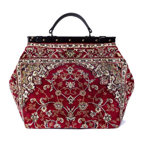 SAC-VOYAGE Palace Red - large Mary Poppins Victorian CARPET BAG