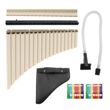 Pan Flute Pipes 18 Pipe Instrument Set with Storage Bag Two-way Playing Beginner