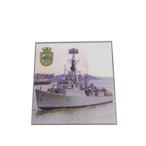 SET OF 4 HMS ASHANTI F117  GLASS COASTERS