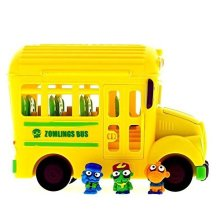 Zomlings in the Town Crazy School Bus Miniture Figure, Assorted Colors