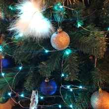 Vine Fairy Lights, 30 LED per Wire String, Perfect for Small Christmas Tree, Vase or Display