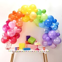 Ginger Ray Rainbow DIY Balloon Arch Kit Party Decorations 85 Assorted Pack