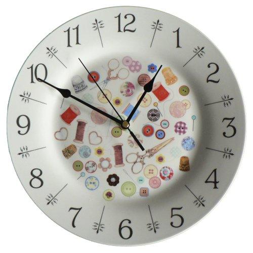 "Sewing 10.5"" clock wall clock"