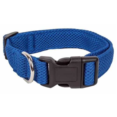 Pet Life CL14BLSM Aero Mesh 360 Degree Dual Sided Comfortable & Breathable Adjustable Mesh Dog Collar, Blue - Small