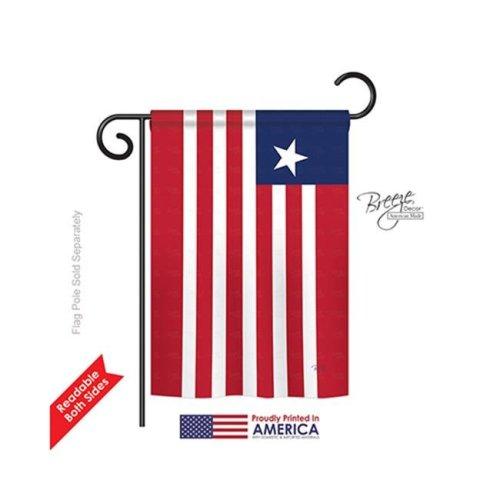 Breeze Decor 58367 Liberia 2-Sided Impression Garden Flag - 13 x 18.5 in.