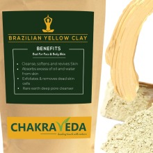Pure Natural  Brazilian Yellow Clay, Best for Skin, 100g by ChakraVeda