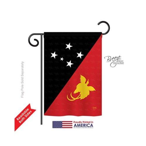 Breeze Decor 58260 Papua New Guinea 2-Sided Impression Garden Flag - 13 x 18.5 in.