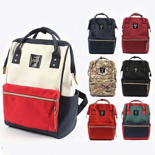 Anello Canvas Backpack Waterproof Shoulder Bag