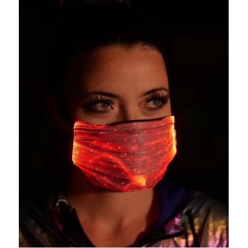 (Black) LED Luminous Face Covering