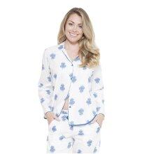 Cyberjammies 3631 Women's Lara White Motif Pajama Pyjama Top