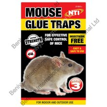 NTI EXTRA STRENGTH Mouse & Rat Sticky Glue Traps Boards 3PK