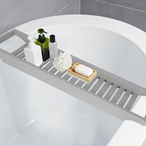 Wooden Bathtub Caddy Bridge Tray   Soap Holder Bathtub Holder