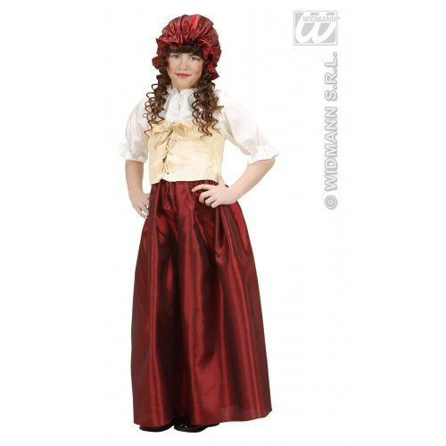 Girls Peasant Girl Serving Wench Costume Kids Medieval Victorian Fancy Dress