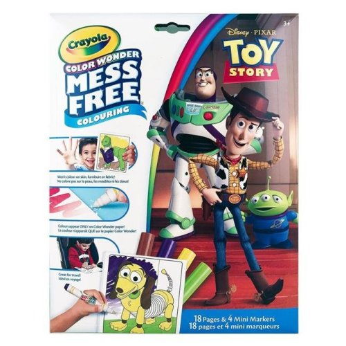 Crayola 30369410 Color Wonder Mess Free Colouring Toy Story - 18 Pages & 4 Mini Markers