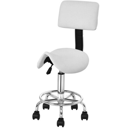 Adjustable Saddle Salon Rolling Massage Chair with Backrest Premium