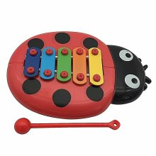 BEETLE XYLOPHONE 5-Note Red Musical Toy Baby Kids Child Development