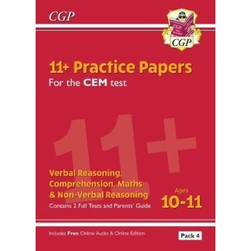New 11+ CEM Practice Papers: Ages 10-11 - Pack 4 (with Parents' Guide & Online Edition)