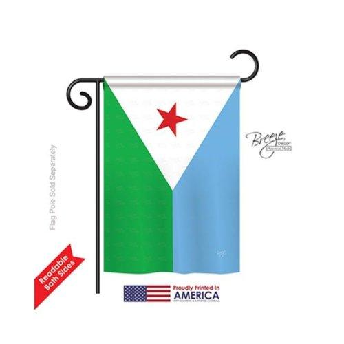 Breeze Decor 58300 Djibouti 2-Sided Impression Garden Flag - 13 x 18.5 in.