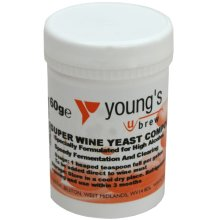 Super Wine Yeast Compound 60g 50L/10 Gallon Youngs Home brew Beer & Wine Making