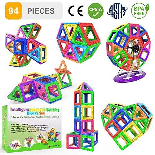 Desire Deluxe Magnetic Building Blocks Gift 94PC Kids Magnetics Construction Block Games for Boys and Girls Creativity Educational Children's Toys f