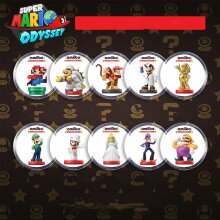 Super Mario Ddyssey Maker2  Amiibo Cards NFC Statue 10pcs Full Set for Nintendo Switch