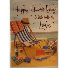 Happy Father's Day with lots of Love card 23cm x 16cm