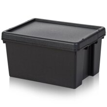 Pack of 3 - 16 Litre Wham Bam Heavy Duty Recycled Plastic Boxes with Lids