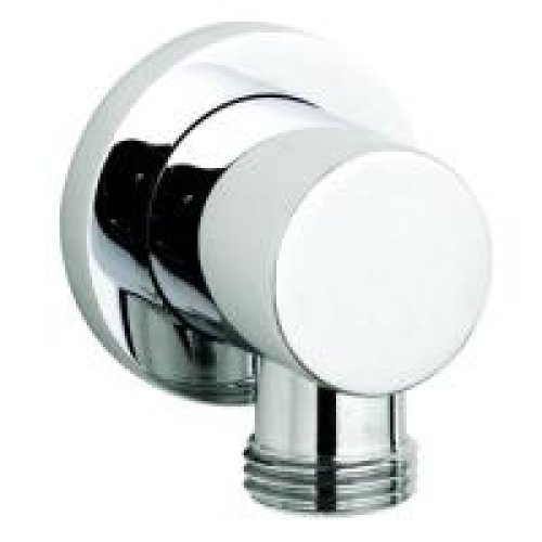 Round minimalist outlet elbow for Shower and bidet