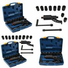 "Torque Multiplier Truck Wheel Nut Wrench Set 3/4"" 1"" Remover Sockets"
